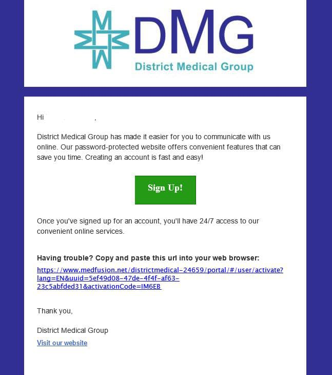 dmg email example